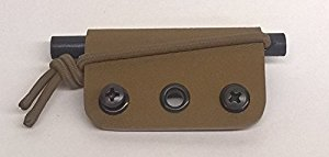 5/16 Ferro Rod Sheath (with rod) Coyote Brown
